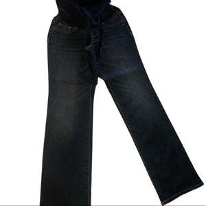 Indigo Blue Petite Straight Leg Maternity Jeans